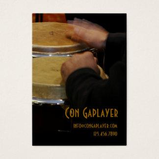 die Hände der congaplayers auf Congatrommeln Visitenkarte