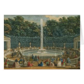 Die Hauben im Garten in Versailles, Kneipe. durch Karte