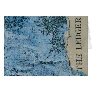 Die Hauptbuch-Collage laufend Karte