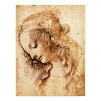 Die Hauptpostkarte Da Vinci-Frau Postkarte
