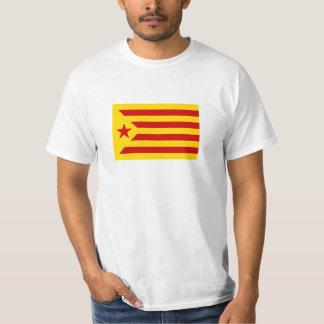 Die Hauptrolle gespielte Flagge Kataloniens Rot T-Shirt