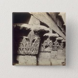 Die Hauptstädte des Portico, Tempel von Khnum, Quadratischer Button 5,1 Cm