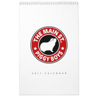 Die Hauptstraßen-Piggy Jungen Abreißkalender