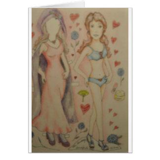 Die Hausfrau Paperdoll Karte