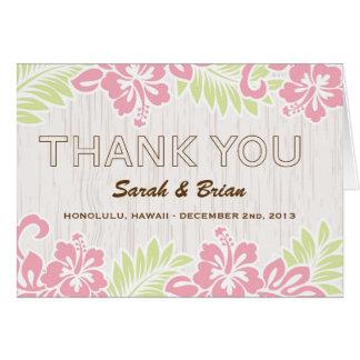 Die hawaiischen Wedding Hibiskus-Blumen danken Mitteilungskarte