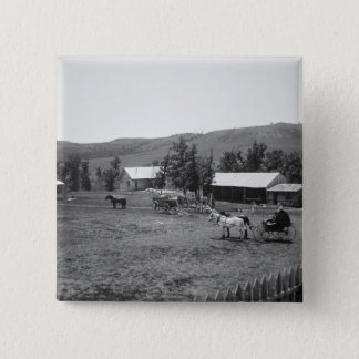 Die Haylie Ranch, Crook County, Wyoming, c.1890 (b Quadratischer Button 5,1 Cm