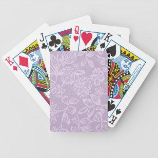 Die Heide auf dem Hügel-Lavendel gemustert Bicycle Spielkarten