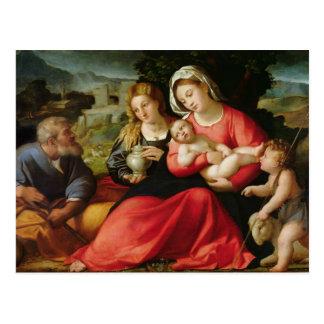 Die heilige Familie, c.1508-12 (Öl auf Leinwand) Postkarte
