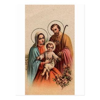 Die heilige Familie - Jesus, Mary und Joseph Postkarte