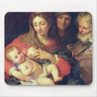 Die heilige Familie mit Elizabeth (Öl auf Platte) Mousepad
