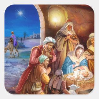 Die heilige Familie Quadratischer Aufkleber