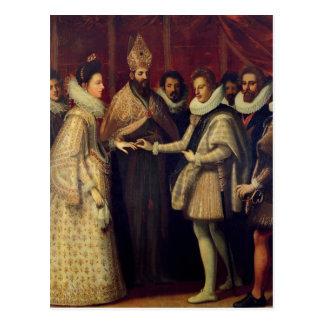 Die Heirat von Catherine de Medici Postkarte