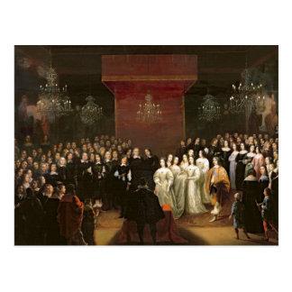 Die Heirat von Frederick William Postkarte
