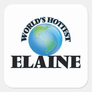 Die heißeste Elaine der Welt Quadrat-Aufkleber
