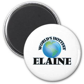 Die heißeste Elaine der Welt Kühlschrankmagnet