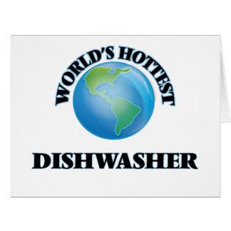 Die heißeste Spülmaschine der Welt Riesige Grußkarte