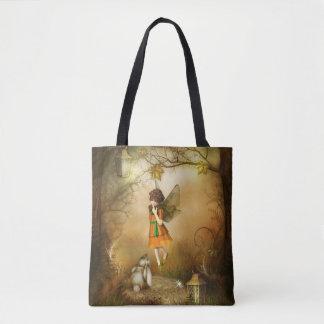 Die Herbst-Fee ganz vorbei - drucken Sie Tasche