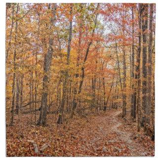 Die Herbst-Spur Stoffserviette