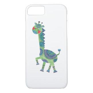 Die herrliche grüne Giraffe iPhone 8/7 Hülle