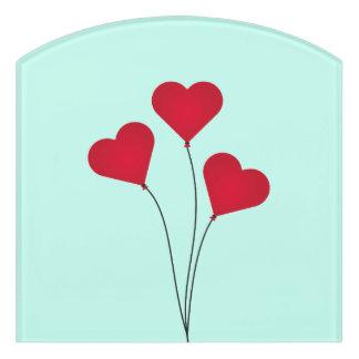 Die Herz-Ballone Türschild