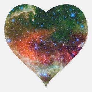 Die Herz-und Soul-Nebelfleck NASA Herz-Aufkleber