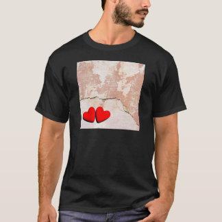 Die Herzen des glücklichen Valentinsgrußes T-Shirt