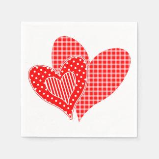 Die Herzen des Valentinsgrußes Servietten