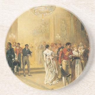 Die Herzogin von Richmonds Ball im Jahre 1815 Sandstein Untersetzer