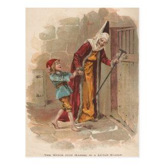 Die Hexe setzte Hansel in den Stall ein Postkarte