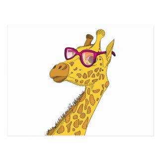 Die Hipster-Giraffe Postkarte