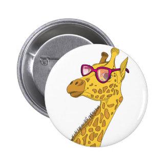 Die Hipster-Giraffe Runder Button 5,1 Cm