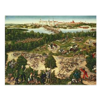 Die Hirsch-Jagd Postkarten