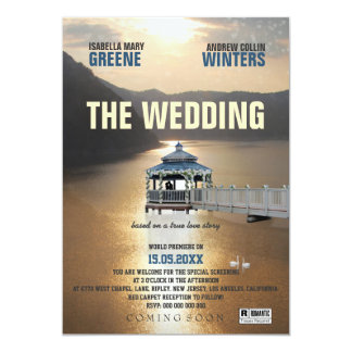 Die Hochzeit Individuelle Ankündigskarten
