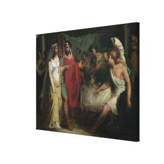 Die Hochzeit von Alexander der Große und von Roxan Leinwand Druck
