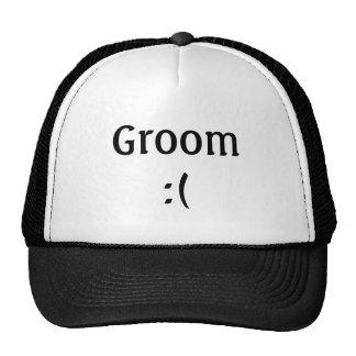 Die Hochzeits-Fernlastfahrer-Hut des Bräutigams Baseballmütze