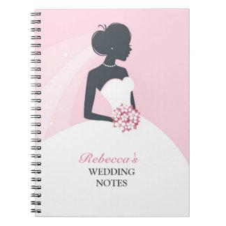 Die Hochzeits-Notizbuch der Braut Spiral Notizbücher