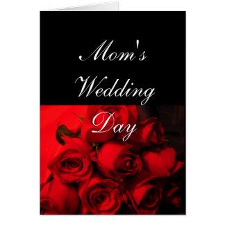 """Die Hochzeits-Tages"""" - hochrote Rosen """"der Mammas Karte"""