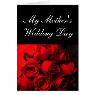 """Die Hochzeits-Tages"""" - hochrote Rosen """"meiner Karte"""