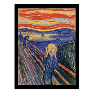 Die hohe Qualität des Schrei-(Pastell 1895) Postkarte