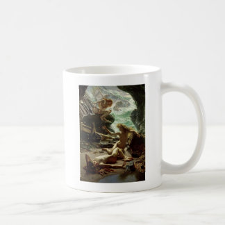 Die Höhle des Sturms Nymphs, 1903 (Öl auf Kaffeetasse