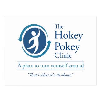 Die Hokey Pokey-Klinik Postkarte