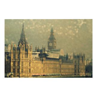 Die hölzerne Wand-Kunst Elizabeth-Turm-Big Bens Holzdruck