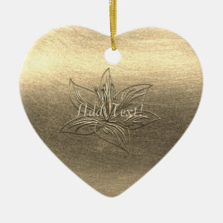 Die hübsche Blumen Goldlilien-Blume addieren Keramik Ornament