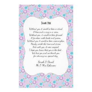 Die hübschen Posy-Blumen, die Gedicht Wedding 14 X 21,6 Cm Flyer