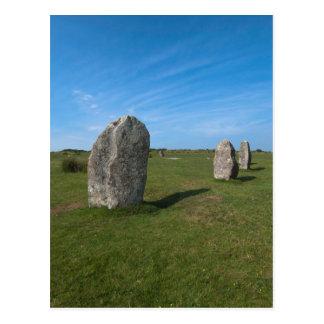 Die Hurlers, Günstlinge, Cornwall Postkarte