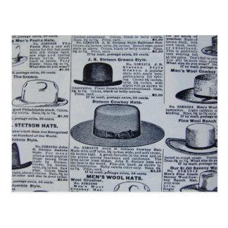 Die Hüte der antiken Männer Postkarten