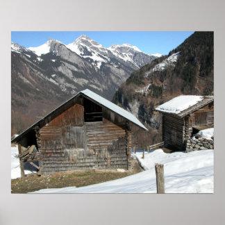 Die Hütten der Hirten auf hohen Weiden Posterdrucke