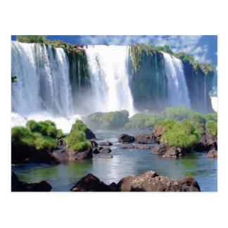 Die Iguaçu-Wasserfälle Postkarte