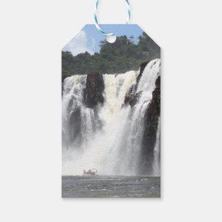 Die Iguaçu-Wasserfälle und Boote, Argentinien Geschenkanhänger