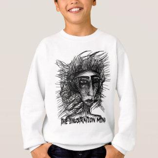 Die Illustrations-Sinnesgesichts-Skizze Sweatshirt